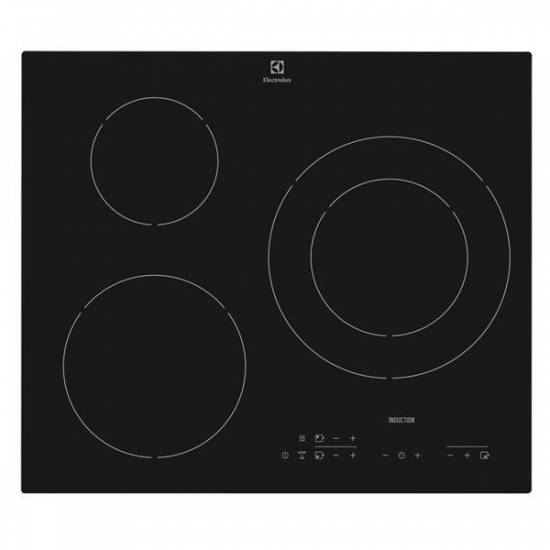 Table de cuisson induction 3 foyers electrolux ehh6332iok - Table induction blanche 3 foyers ...