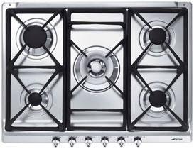 table de cuisson 5 feux gaz smeg ser70sgh5. Black Bedroom Furniture Sets. Home Design Ideas