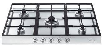 table de cuisson 5 feux gaz smeg pts725 3. Black Bedroom Furniture Sets. Home Design Ideas