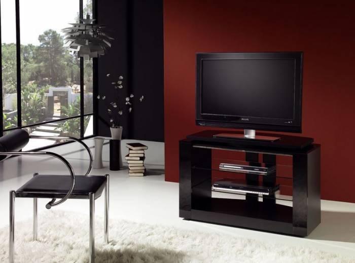 meuble tv pour cran plasma lcd gisan pls301ne. Black Bedroom Furniture Sets. Home Design Ideas