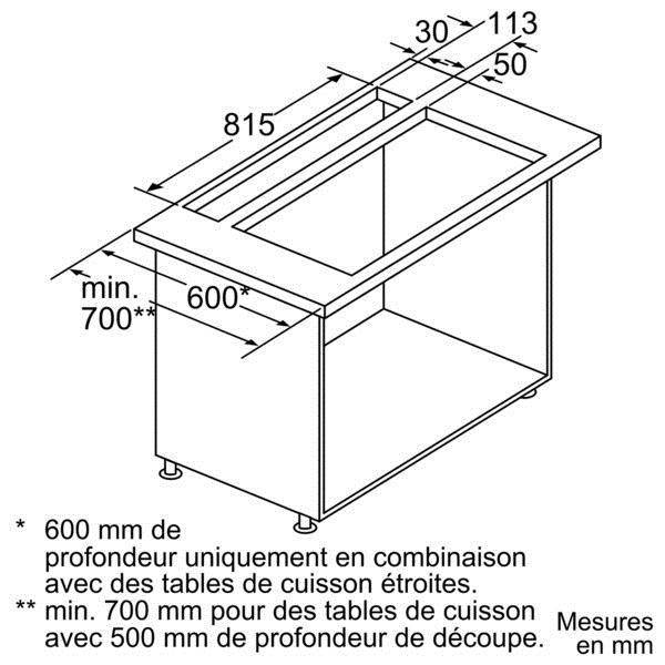 hotte plan de travail siemens ld97aa670. Black Bedroom Furniture Sets. Home Design Ideas