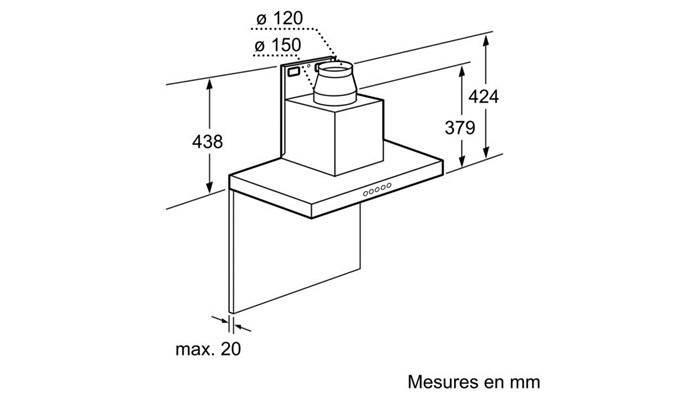 hotte d corative 90 cm siemens lc97be532. Black Bedroom Furniture Sets. Home Design Ideas