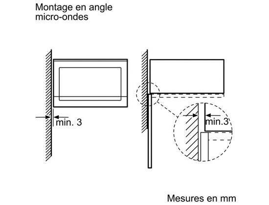 micro ondes encastrable monofonction bosch hmt84m664. Black Bedroom Furniture Sets. Home Design Ideas
