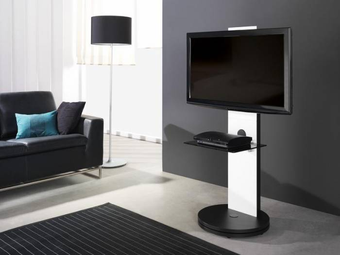 meuble tv pour cran plasma lcd fs120bl gisan. Black Bedroom Furniture Sets. Home Design Ideas