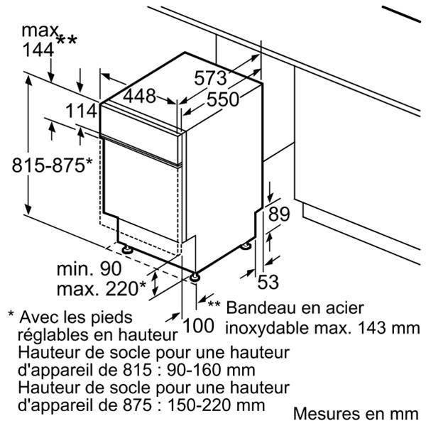 lave vaisselle encastrable bosch spi50e26eu. Black Bedroom Furniture Sets. Home Design Ideas